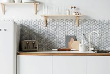 "Clean Vintage Kitchens / Eclectic mix of old & new that comes together in a style we call ""Clean Vintage""."