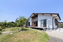 庭との一体感を楽しむサーファーズハウス / 愛知県安城市でお客様の楽しい家づくりのお手伝いをしているナルセコーポレーションのフォトギャラリーです。自然素材、広がり間取りの「香りの家」 新築、注文住宅のご相談を受け付けております。