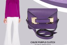 Purple Chloe clutch /shoulder bag