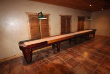 Rock-Ola Shuffleboard Table Rooms / Rock Ola Shuffleboard Tables Vintage Shuffleboard Tables. Rock Ola made classic shuffleboard tables in 1948 and 1949 McClure Tables still handcrafts them today see some old and some new with both Antique tables and new classic Rock Ola models in this board you can have one made just for you see more here http://www.mccluretables.com/c-50-rock-ola-shuffleboard-tables.aspx