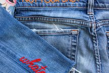 Jeans embroidery