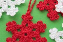 hačkovane hvězdy na vánoce