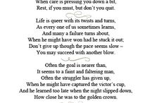 My Favourite Poems/Pledges / Don't Quit brings me back HS memories during our challenges to be a full pledged CAT