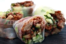 Me Love Crystal Rolls / 4 small soft rice paper rolls filled with a variety of fresh fillings / by Me Love