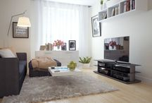 Big Screen TV room re-do ideas / by Vicki Fort