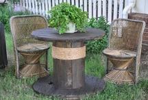 Cable drum furniture