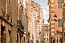 Toulouse / Ville à l'architecture caractéristique des cités du Midi de la France, Toulouse est surnommée la « ville rose » en raison de la couleur du matériau de construction traditionnel local, la brique de terre cuite.