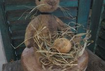 Darling Rabbits / All hand made , original rabbits by the hands of Lynn Higbie of The Button Box