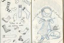 Art of Knitting & Crochet / Knitting Art & Sketches