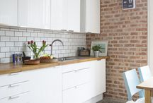 Brick Slip Inspiration / Dream interiors. Create a similar look with Brick Slips.