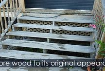 Cleaning a Wood Deck - Steps Instructions / How to clean a wooden deck. Deck cleaners and power washer.  Fastest way for cleaning deck. Detailed instructions and Illustrations.