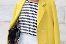 bold and colorful coats / bold coats paired with neutral colors