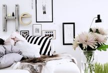 Balck&White / inspiration for B&W Home decor elements