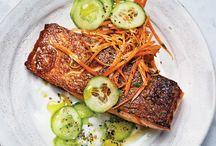 Salmon and cumber