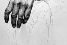 Karakalem el bacak  vucut baş resimler.