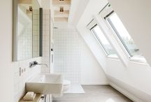 Bathroom / Cool ideas for clean, white bathroom