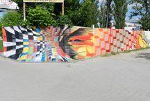 Farbą w Płot / Street art jam UKSW Kampus Młociny