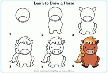 How to draw horses. Step by step.