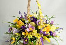 koszyczki z kwiatkami