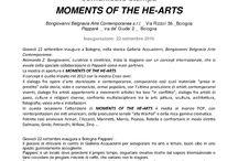 """MOMENTS OF THE HE-ARTS / Raimonda Z. Bongiovanni, curatrice e direttrice, inizia la stagione con un concept internazionale, che si avvale della speciale collaborazione di Papparè come main partners.  La mostra di apertura è MOMENTS OF THE HE-ARTS. Il concept è quello iniziato nel 2013 con la mostra Cross-over. In questa occasione l'attenzione di MOMENTS OF THE HE-ARTS è rivolta al mondo POP, con reinterpretazioni dei miti americani, della produzione seriale """"alla Warhol"""" e della ricca gamma cromatica."""