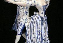 Antique Dresden figurines