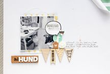 The Paper Doll / Scrapbooking inspiration including products available @ the Paper Doll