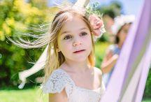 Flower girls/Ring bearers / Pretty flower girls, flower girl dresses, flower girl baskets, hairstyles for flower girls