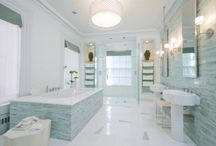 Dream Bathrooms / Wow, so much inspiration when it comes to dream bathrooms. Not only do some of these inspirational bathrooms look cool, they look so stylish and luxurious. Need this board to provide a style for my new bathroom, just wish some of the views through the windows were portable too.