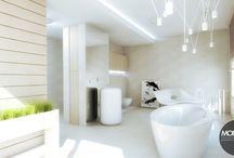 Apartament Michałowice / Elegancki apartament, w którym dominuje styl nowoczesny. Stylowa kuchnia tworzy integralną część wraz z jadalnią i salonem. Dominują formy proste i czyste bryły,drewno i szarości, które nadają niezwykły charakter całej stylistyce. Przestrzenna łazienka utrzymana w jasnej tonacji idealnie wpasowuję się w spójną charakterystykę projektu.  Po więcej inspiracji zapraszamy na Nasza stronę: http://monostudio.pl/ oraz na Facebooka