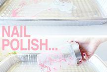nail polish & water