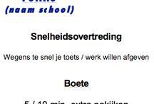 school handige lijstjes