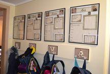 School bag organiser ideas