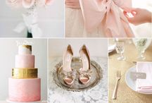 Pale Pink & Gold / Pale pink & gold wedding theme with natural confetti ideas from The confetti cone company www.confetti-cones.co.uk