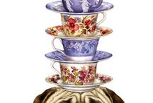 Cups and Saucers / Art with cups and saucers / by Dorothy Rues