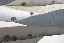 modern art landscape