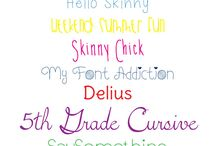 Fonts / by Gwen's Paper Expressions