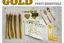 Gold, Silver and Metallic Party Ideas / Metallic Gold, silver, copper, brass and glitter Party supplies, decorations, ideas, inspiration and party diy's.