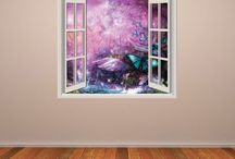 Fantasy Window Wall Stickers / by Kate Elizabeth