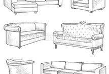 Drawing - furniture
