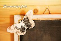 My little chalkboard & butterfly / Lavagna da appendere 24,5x24,5 cm