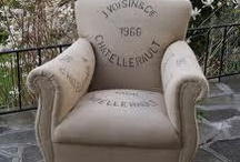 Grain Sack Upholstery Inspiration / by Authentica Classics