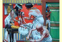 ókori egyiptom történelmi illusztrációk