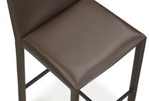 Modern bar stools, leather bar and counter designer stools