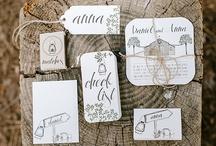 Mariage * Jolie Papeterie / Idées et inspiration pour la papeterie de votre mariage : faire-part, marque-place, menus, save the date