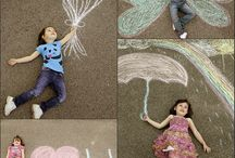Interactive chalk drawings