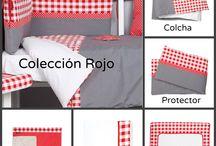 Ropa de Cuna Roja - Kiwisac / Si eres más de rojo, has encontrado toda la ropa de cuna que necesitas para tu bebé. Está en oferta, así que llévatelo todo!!