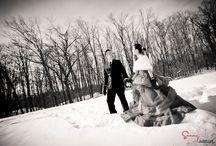 Winter Engagement photo idea / Winter Engagement, photo in snow season http://www.sunnytam.com