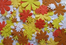 Mulberry paper flower die cuts