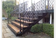 Stairs outdoor off deck
