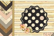 Maison / Papers, album and embellishments designed by Brenda Walton for K&Company
